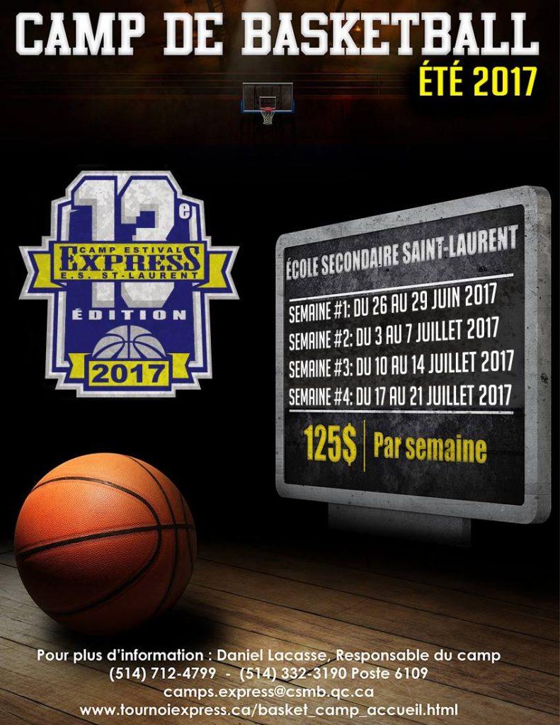 Camp basketball EXPRESS été 2017