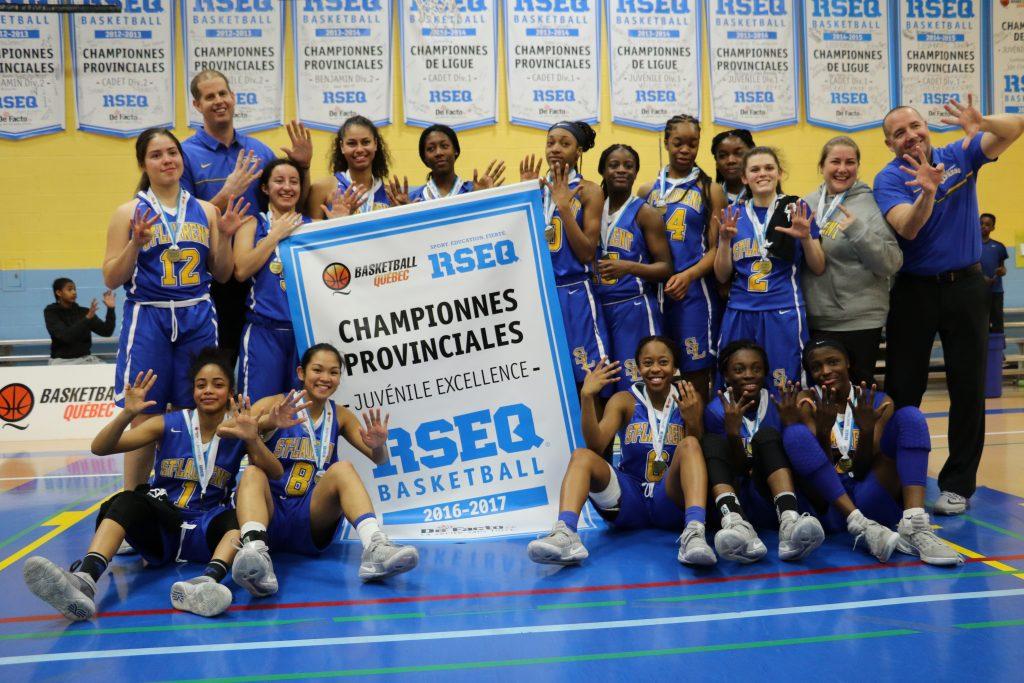 Express basketball féminin juvénile- Championne provinciale 2016-2017